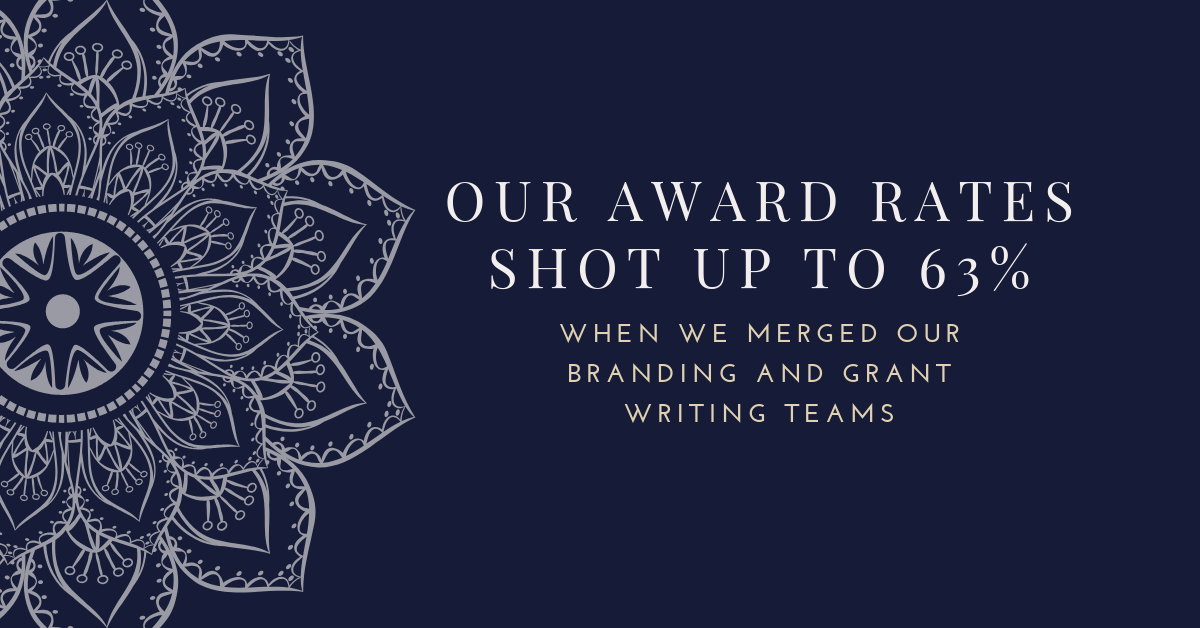 When We Merged Our Branding and Grant Writing Teams, Our Award Rates Shot Up to 63%