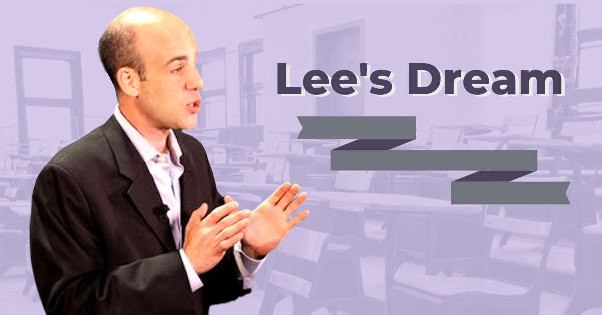 Lee Has Got a Dream For His School